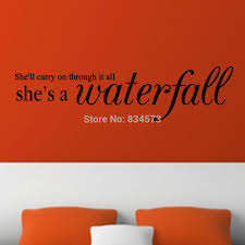 aliexpress com buy mad world she s a waterfall lyrics song wall aliexpress com buy mad world she s a waterfall lyrics song wall art stickers wall decal home diy decoration removable room decor wall stickers from