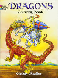 dragons coloring book dover coloring books christy shaffer