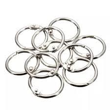 metal binder rings images Book rings loose leaf binder rings 50 pack silver 0 8 inch webp