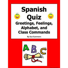 greetings feelings alphabet and class commands quiz or worksheet