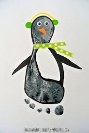 penguin footprint art fspdt