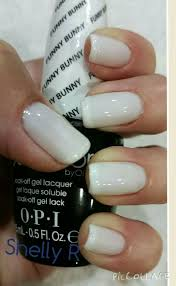 opi gel color funny bunny french with orly gel pointe blanche