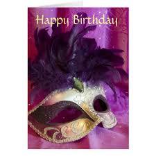 purple masquerade mask purple masquerade mask birthday card zazzle