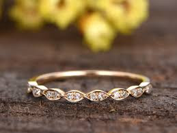 Wedding Rings For Her by Yellow Gold Diamond Wedding Bands 14k 18k Marquise Matching Ring