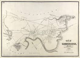 Map Of Cambridge Ma Old Maps Of Harvard