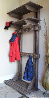 remodelaholic diy hall tree coat rack inspired by pottery barn
