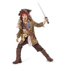 Pirates Caribbean Halloween Costume Jack Sparrow Costume Kids