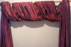 the second great way to hang your scarf swag curtains curtains