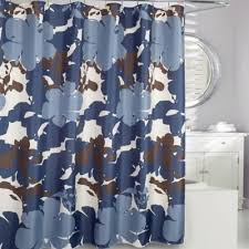 Flower Drop Shower Curtain Buy Blue Floral Fabric From Bed Bath U0026 Beyond