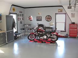 modern futuristic design the garage storage interior that has harley pub garage interior design