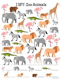 zoo animals i spy printable for kids time snippets