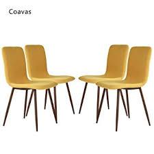 amazon com set of 4 dining chairs coavas fabric cushion kitchen