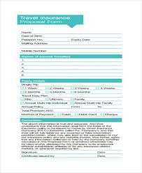 travel insured images 12 travel proposal form samples free sample example format jpg