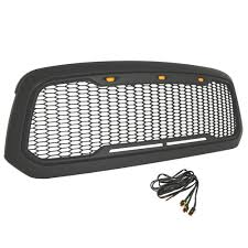 abs and brake light on dodge ram 1500 grille full mesh matte black abs with led accent lights dodge ram