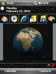 download themes on mobile phone spinnng earth animated theme v1 00 freeware for windows mobile phone