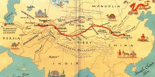 Nd Road Map Pin Silk Road Map