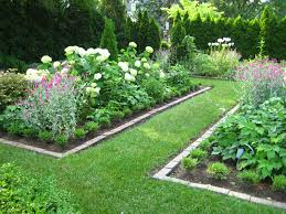 Backyard Flower Bed Ideas Extraordinary Rectangular Flower Bed Design Pictures Best Ideas