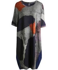 crea concept crea concept abstract print tunic dress zen wardrobe