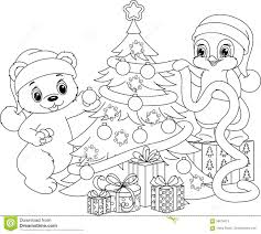 christmas tree colouring pictures christmas lights decoration