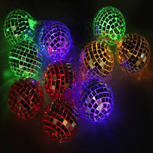 retro glitter string lights