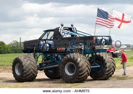 monster truck melbourne raceway north yorkshire stock photo