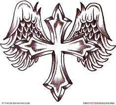 crown cross with praying hands tattoo design in 2017 real photo