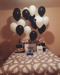 bae flowers and balloon at i like the black and white theme subscribe to my