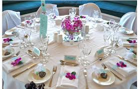 of wedding table decor ideas with pink orchid flower png