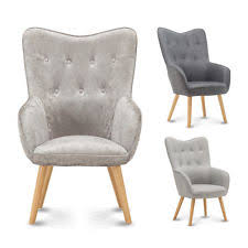 Accent Bedroom Chairs Unbranded Bedroom Crushed Velvet Chairs Ebay