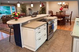 kitchen islands with stove stove covers for counter space concrete countertops the