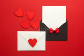 wedding wishes envelope envelope mail heart and ribbon on background day