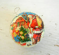 vintage ornament german paper mache by peppermintbark