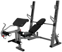 amazon com xmark international olympic weight bench with leg and