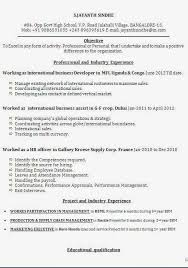 international resume format for mba cv for example sample template example ofexcellent curriculum