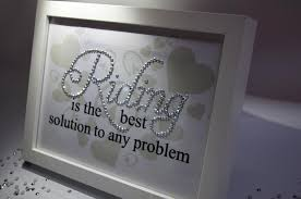 riding is the best solution problem sparkle word art pictures