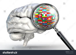 Flags Of Nations World Flags Global Nations Human Brain Stock Illustration