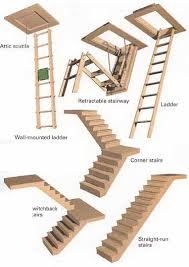 ladders to attic ideas retractable stairway ladder wall