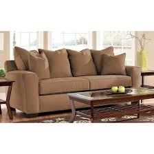 Klaussner Distinctions Klaussner Heather Microsuede Sofa In Chocolate For 648 24 In