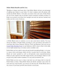 Shutters And Blinds Sunshine Coast Roller Blinds Benefits And Its Uses