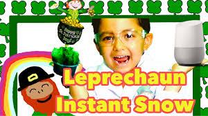 google home u0026 leprechaun green instant snow st patrick u0027s