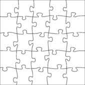 clipart of complete puzzle jigsaw template 25 pieces k8545465