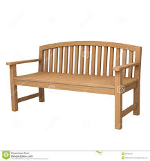 a wooden bench on white stock photo image 25099720