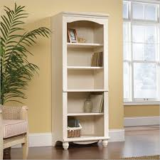 Sauder 5 Shelf Bookcase Harbor View Antiqued White Library Bookcase Sauder Furniture