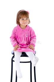 High Chair That Sits On Chair The Little Sits On A High Chair Royalty Free Stock Image