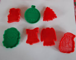 vintage christmas cookie cutters etsy