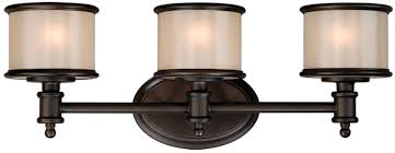 3 Light Bathroom Fixtures Vaxcel Cr Vlu003nb Carlisle Noble Bronze Finish 8 3 Light