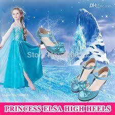 wholesale discount glitter girls shoes princess high heels blue