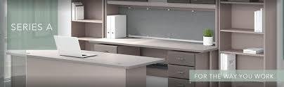 bush series a desk amazon com bush business furniture series a 36w desk in pewter and