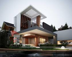 gorgeous modern home design with unusual roofing and mini front