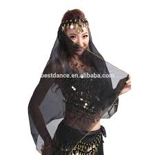 bestdance indian wedding veil ladies belly dancing costume silk